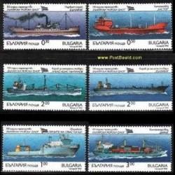 6 عدد تمبر کشتی ها - بلغارستان 1992