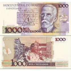 اسکناس سورشارژ 1000 کروزادو - برزیل 1989