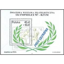 """سونیزشیت نمایشگاه  فیلاتلیکس بین المللی الیمفیلکس """"87 در رم ، ایتالیا - لهستان 1987"""