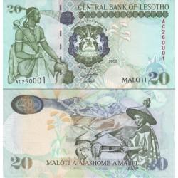 اسکناس 20 مالوتی - لسوتو 2009