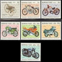 7عدد تمبر 100 امین سال موتورسیکلتها - بورکینافاسو 1985