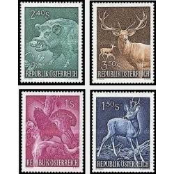 4 عدد تمبر کنگره بین المللی شکار - وین - اتریش 1959