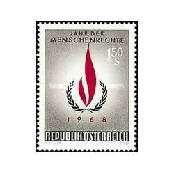 1 عدد تمبر سال حقوق بشر - اتریش 1968