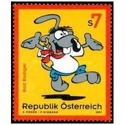 1 عدد تمبر  شخصیت کارتونی - رولف رودیگر - اتریش 2001