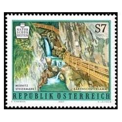 1 عدد تمبر زیبایی های طبیعی اتریش - منظره - اتریش 2001