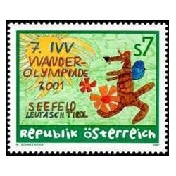 1 عدد تمبر هفتمین دوره بازیهای المپیک پیاده روی IVV  - اتریش 2001