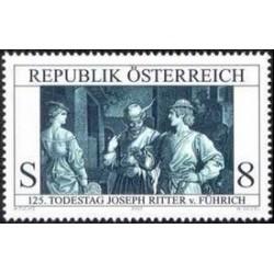 1 عدد تمبر 125مین سالگرد مرگ نقاش و طراح جوزف ریتر فون فوریچ - نقاشی - اتریش 2001