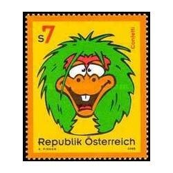 1 عدد تمبر کودکان و نوجوانان تلویزیون برنامه کانفتی (آبنبات) - اتریش 2000