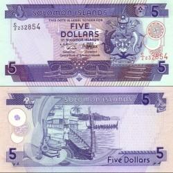 اسکناس 5 دلار جزایر سلیمان 1997 تک