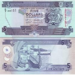 اسکناس 5 دلار - جزایر سلیمان 2004