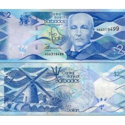 اسکناس 2 دلار - باربادوس 2013