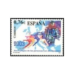 1 عدد تمبر سال معلولین اروپا - اسپانیا 2003