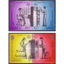 4 عدد تمبر مشترک  اروپا - Europa Cept - جرسی 1979