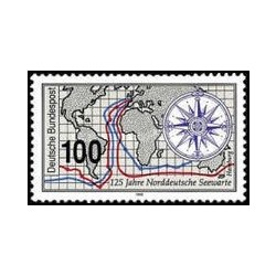 1 عدد تمبر 125مین سالگرد موسسه تحقیقات دریای شمال آلمان - جمهوری فدرال آلمان 1993