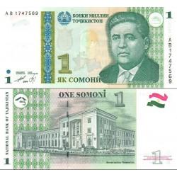 اسکناس 1 سامانی - تاجیکستان 1999