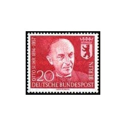 1 عدد تمبر یادبود اتو زور - سیاستمدار - برلین آلمان 1958 قیمت 4.2 دلار