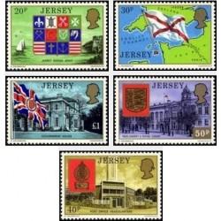 5 عدد تمبر سری پستی - نشان ملی - جرسی 1976 قیمت 8.2 دلار