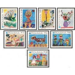 8 عدد تمبر 25مین سالگرد صندوق کودکان سازمان ملل متحد در یونیسف - نقاشی - لهستان 1971