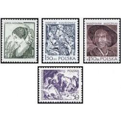 4 عدد تمبر آثار حکاکی معاصر - تابلو - لهستان 1979