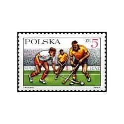 1 عدد تمبر 60مین سالگرد انجمن هاکی در فضای باز - لهستان 1985