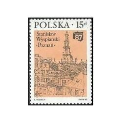 """1 عدد تمبر نمایشگاه ملی تمبر شناسی پوزنان """" 87 در پوزنان - لهستان 1987"""