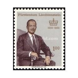 1 عدد تمبر 60مین سالگرد تولد شاهزاده فرانتس ژوزف دوم ، 1906 - 1989 - لیختنشتاین 1966