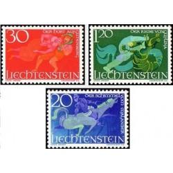 3 عدد تمبر داستانهای دنباله دار - قصه های پریان - لیختنشتاین 1967