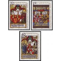 3 عدد تمبر تابلوهایی از موزه ملی لیختنشتاین - نقاشی - لیختنشتاین 1979