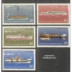 5 عدد تمبر کشتی ها - آلمان 1975