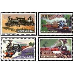 4 عدد تمبر لوکوموتیوهای بخار - استرالیا 1979