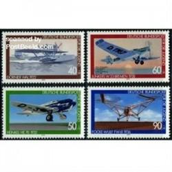 4 عدد تمبر جوانان - هوانوردی - آلمان 1979