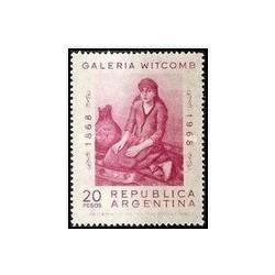 1 عدد تمبر صدمین سالگرد گالری ویت کومب ، بوئنوس آیرس - تابلو - آرژانتین 1968