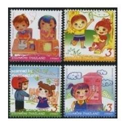 4 عدد تمبر هفته بین المللی نامه نگاری - تایلند 2011