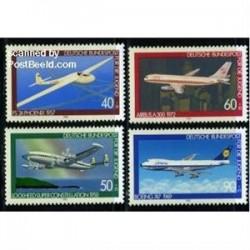 4 عدد تمبر جوانان - هوانوردی - آلمان 1980