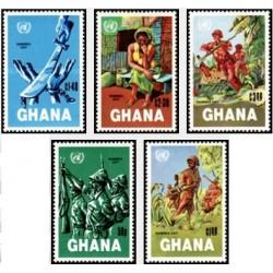 5 عدد تمبر روز نامیبیا - غنا 1984