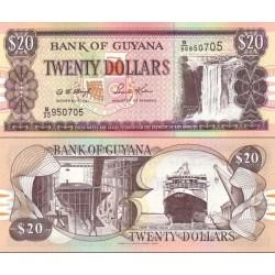 سکناس 20 دلار - گویانا 2000