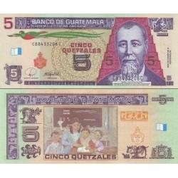 اسکناس 5 کواتزل - گواتمالا 2008
