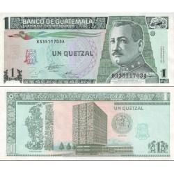 اسکناس 1 کواتزل - گواتمالا 1995