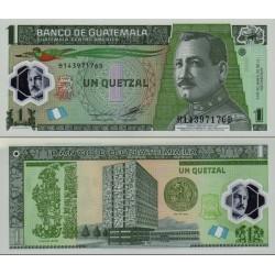اسکناس پلیمر 1 کواتزل - گواتمالا 2012 تاریخ 17.10.2012