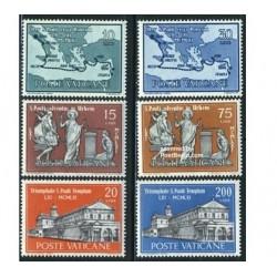 6 عدد تمبر سنت پاول در رم - واتیکان 1961
