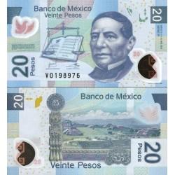 اسکناس پلیمر 20 پزو - مکزیک 2012