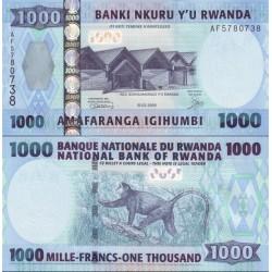 اسکناس 1000 فرانک - رواندا 2008