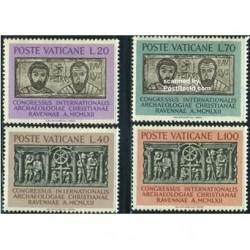 4 عدد تمبر کنگره باستانشناسی - واتیکان 1962