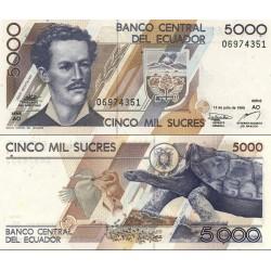 اسکناس 5000 ساکرس - اکوادور 1999 سری AO