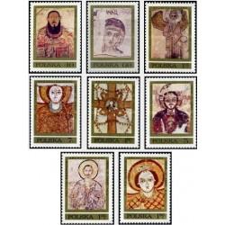 8 عدد تمبر نقاشیهای دیواری فاراس - لهستان 1971