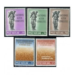 5 عدد تمبر کشیش ها - واتیکان 1962