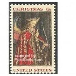 1 عدد تمبر تابلو - کریستمس - آمریکا 1968