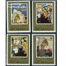 4 عدد تمبر کریستمس - نیکاراگوئه 1987