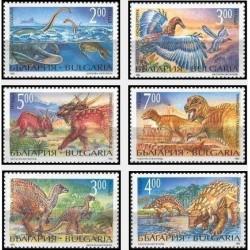 6 عدد تمبر جانداران ماقبل تاریخ - دایناسورها - بلغارستان 1994