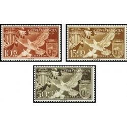 3 عدد تمبر والنسیا - گینه اسپانیا 1958
